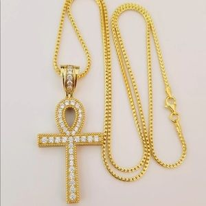 Other - Men 14k Gold Plated Cross